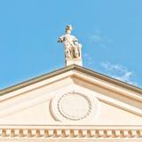 Estatua de Matilde di Canossa en San Benedetto Po, Italia Fotos de archivo