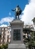 Estatua de Miguel de Cervantes imagen de archivo libre de regalías
