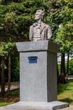 Estatua de Mihai Eminescu Imágenes de archivo libres de regalías