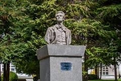 Estatua de Mihai Eminescu - busto Imagenes de archivo