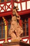 Estatua de Minerva en Romer en Francfort Fotografía de archivo