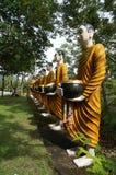 Estatua de monjes Imagen de archivo