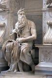 Estatua de Moses Fotografía de archivo