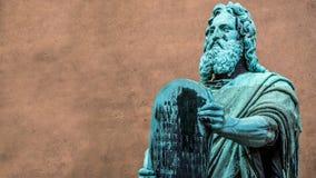 Estatua de Moses Fotos de archivo libres de regalías