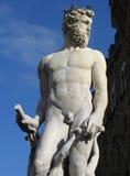 Estatua de Neptuno en Florencia Imagen de archivo libre de regalías