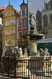 Estatua de Neptuno en Gdansk Imagen de archivo libre de regalías