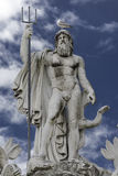 Estatua de Neptuno en la fuente, Roma, Italia Fotos de archivo