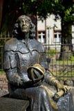 Estatua de Nicolaus Copernicus en Olsztyn Fotos de archivo libres de regalías