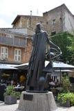 Estatua de Nostradamus Imágenes de archivo libres de regalías