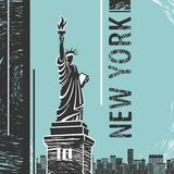 Estatua de Nueva York de Liberty Poster Libre Illustration