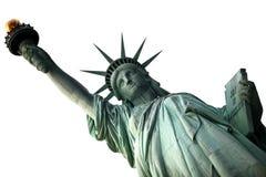 Estatua de NY de la libertad aislada en blanco Imagen de archivo libre de regalías
