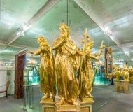 Estatua de obispo santo Koloman en Melk Imagenes de archivo