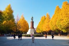Estatua de Omura Masujiro en la capilla de Yasukuni Fotos de archivo libres de regalías