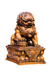 Estatua de oro china del león Fotografía de archivo libre de regalías