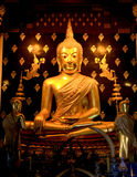 Estatua de oro de Buda, Tailandia Imagen de archivo