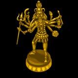 Estatua de oro de la deidad con muchas manos stock de ilustración