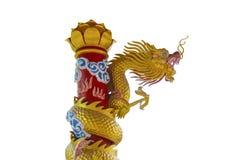 Estatua de oro del dragón Imagenes de archivo