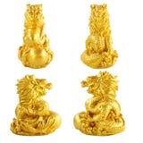 Estatua de oro del gragon Imágenes de archivo libres de regalías