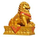Estatua de oro del león Foto de archivo libre de regalías