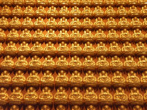 Estatua de oro del monje Foto de archivo