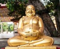 Estatua de oro tailandesa de Buddha Imagen de archivo libre de regalías