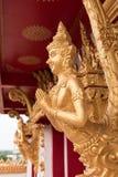 Estatua de oro tailandesa del guarda Fotos de archivo libres de regalías