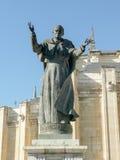 Estatua de papa Juan Pablo II (Karol Wojtyla) delante de Madrid A Foto de archivo libre de regalías