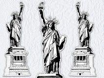 Estatua de papel ilustración del vector