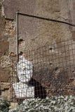 Estatua de pensamiento en los suburbios de Roma Fotografía de archivo