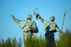 Estatua de peregrinos - Santiago de Compostela Fotografía de archivo libre de regalías