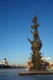 Estatua de Peter el grande en Moscú Imagen de archivo