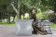 Estatua de Phillis Wheatley foto de archivo