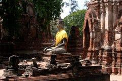 Estatua de piedra de Buddha Imágenes de archivo libres de regalías