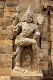 Estatua de piedra de la deidad hindú del guarda Fotografía de archivo