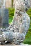 Estatua de piedra del ángel en el cementerio antiguo II fotografía de archivo libre de regalías