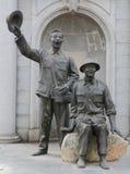Estatua de piedra del ejército de la liberación de gente china Foto de archivo
