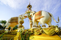 Estatua de piedra del elefante Foto de archivo libre de regalías