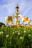 Estatua de piedra del elefante fotografía de archivo libre de regalías