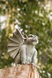 Estatua de piedra del gargoyle. Foto de archivo