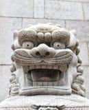 Estatua de piedra del león en Hong Kong Fotografía de archivo