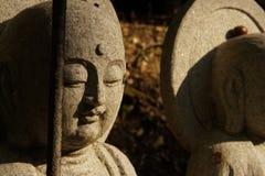 Estatua de piedra del monje Imágenes de archivo libres de regalías
