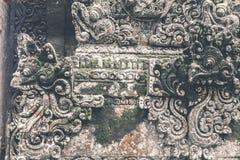 Estatua de piedra hindú en el templo del balinese Isla tropical de Bali, Indonesia Fotografía de archivo libre de regalías