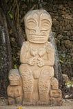 Estatua de piedra polinesia Foto de archivo libre de regalías