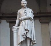 Estatua de Pietro Verri imágenes de archivo libres de regalías