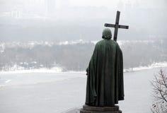 Estatua de príncipe Vladimir Imagen de archivo libre de regalías
