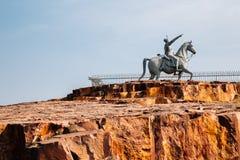 Estatua de Rao Jodha en Jodhpur, la India fotos de archivo libres de regalías