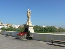 Estatua de Raphael del santo en Córdoba, España foto de archivo libre de regalías