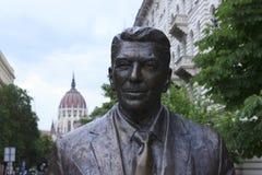 Estatua de Reagan en Budapest Imagen de archivo libre de regalías