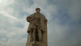 Estatua de rey Joao III almacen de metraje de vídeo