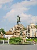 Estatua de rey Juame en Palma de Majorca Imagenes de archivo
